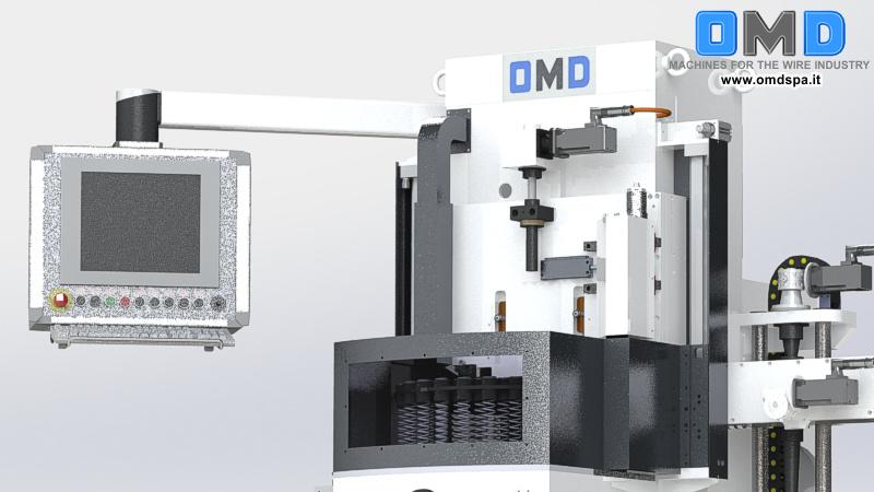 Molatrice a discesa automatica per la rettifica piano parallela delle spire terminali di molle